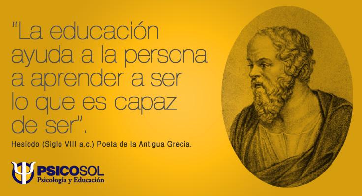"""""""La educación ayuda a la persona a aprender a ser lo que es capaz de ser""""."""