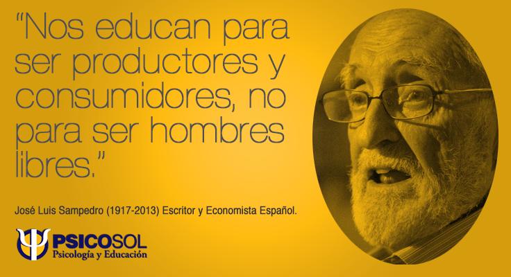 José Luis Sampedro (1917-2013) Escritor y Economista Español.