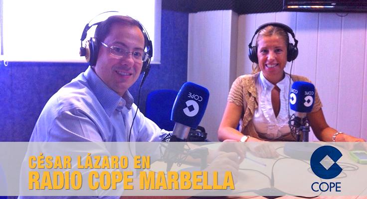 César Lázaro en Radio COPE Marbella.