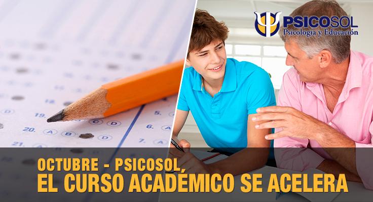 Octubre va pasando, y tras el puente del Pilar, el curso académico se acelera.
