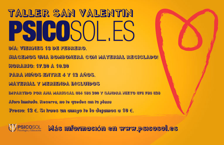 TALLER SAN VALENTIN, psicosol, Ana Mariscal, Sandra Nieto