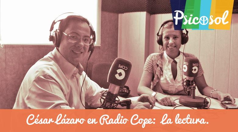 César Lázaro en Radio COPE Marbella nos habla de la lectura.