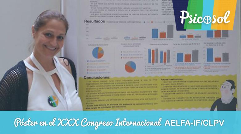 Póster en el XXX Congreso Internacional AELFA-IF/CLPV