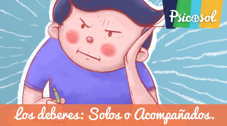 Los deberes: solos o acompañados | Psicosol Marbella