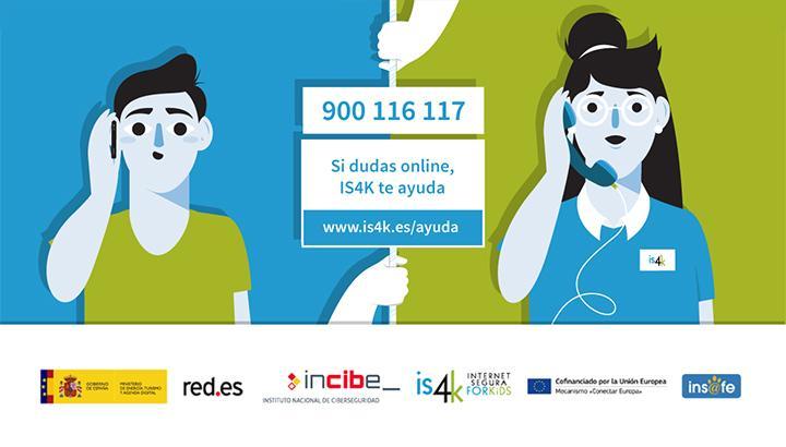 El número 900 116 117 atenderá las dudas sobre privacidad, sexting o el uso inapropiado de redes por parte de niños y adolescentes